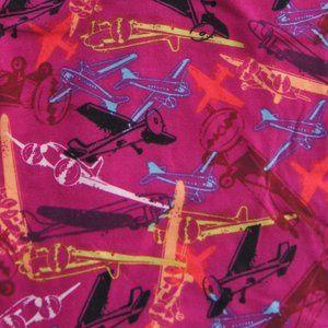 NEW Lularoe Leggings Pink Purple Airplanes TC
